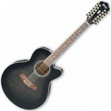 IBANEZ AEL2012E TRANSPARENT BLACK SUNBURST - 12-cтрунная электроакустическая гитара