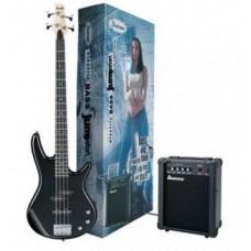 IBANEZ IJSR190U BASS JUMPSTART BLACK - набор бас-гитара комбо и аксессуары