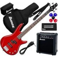 IBANEZ IJSR190U BASS JUMPSTART RED - набор бас-гитара комбо и аксессуары