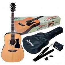 IBANEZ V50NJP NATURAL - набор акустическая гитара и аксессуары