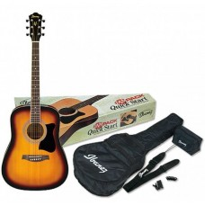 IBANEZ V50NJP VINTAGE SUNBURST - набор акустическая гитара и аксессуары