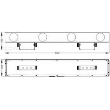 Involight LED RX350 - LED световой эффект, 4 линзы, 256 шт. RGBWY, звук. актив., DMX-512