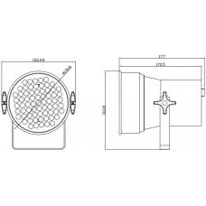 Involight LEDPAR36/AL - светодиодный RGB прожектор (хром), звуковая активация, DMX-512