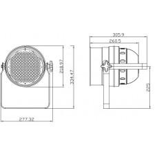 Involight LEDPAR64/BK- светодиодный RGB прожектор (черн.), DMX-512, звуковая активация, авто