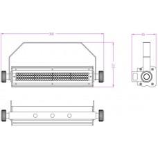 Involight LEDSTROB200 - светодиодный стробоскоп, SMD 5050 (132 шт.), цвет белый