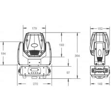 Involight PROSPOT50 - LED вращающаяся голова, белый светодиод 50 Вт, DMX-512