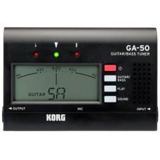 KORG GA-50 цифровой тюнер для гитары/бас-гитары