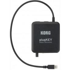 KORG plugKEY-BK портативный аудио/миди интерфейс, цвет черный.