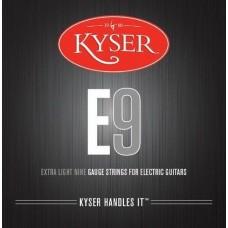 KYSER E9 струны для электрогитары, Extra Light, 9-42, никель