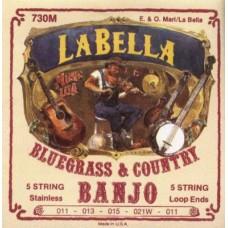 LA BELLA 730M-LE - струны для 5-струнного банджо, петля