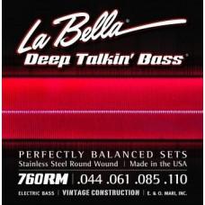 LA BELLA 760RM-B - струны для 5-струнной бас-гитары, 044-128
