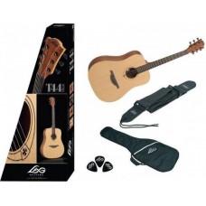 LAG T44D-PACKEX - гитарный набор: гитара, чехол, ремень, медиатры, тюнер