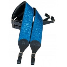 LEVY'S PM18HM-BLU - комплект мягких ремней для аккордеона, кожа, ширина 6 см