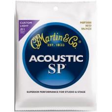 MARTIN MSP3050 - струны для акустической гитары 11-52, бронза 80/20