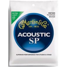 MARTIN MSP4000 - струны для акустической гитары 10-47, фосфор/бронза