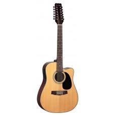 MARTINEZ FAW-802-12 CEQ  - двенадцатиструнная гитара с подключением