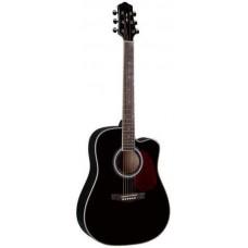 Naranda DG220CE BK Акустическая гитара со звукоснимателем, с вырезом