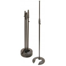 OnStage MS7325 - микрофонная стойка, прямая, круглое основание с вырезом регулируемая высота,черная
