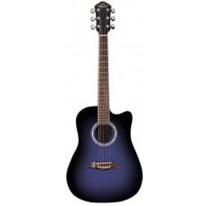 Oscar Schmidt OD45CBLBPAK акустическая гитара Dreadnought, Blue Burst