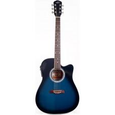 Oscar Schmidt OD45CEBLBPAK электроакустическая гитара Blue Burst