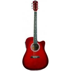 Oscar Schmidt OD45CERDBPAK электроакустическая гитара Red Burst