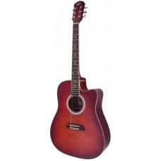 Oscar Schmidt OD45CRDBPAK акустическая гитара Dreadnought, Red Burst