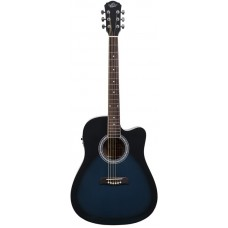 Oscar Schmidt OD50CEBLB электроакустическая гитара Blue Burst