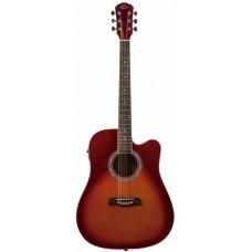 Oscar Schmidt OD50CERDB электроакустическая гитара Red Burst