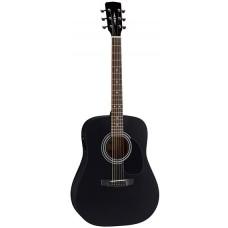 Parkwood W81E BKS Электроакустическая гитара, черная, с чехлом