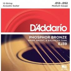 D'ADDARIO EJ39 - струны для 12-струнной гитары