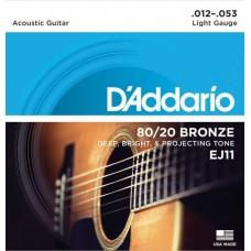 D'ADDARIO EJ11 - струны для акустической гитары