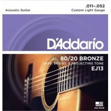 D'ADDARIO EJ13 - струны для акустической гитары