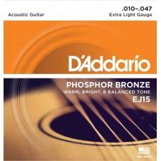 D'ADDARIO EJ15 - струны для акустической гитары