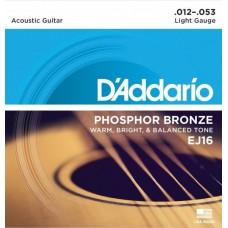 D'ADDARIO EJ16 - струны для акустической гитары