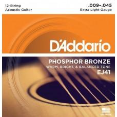 D'ADDARIO EJ41 - струны для 12- струнной гитары