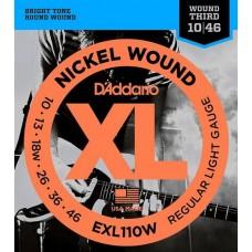 D'ADDARIO EXL110W - струны для электрогитары