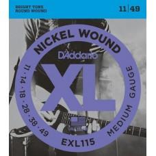 D'ADDARIO EXL115 - струны для электрогитары