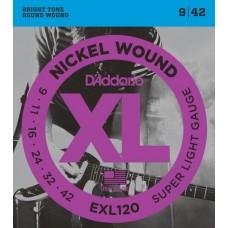 D'ADDARIO EXL120 - струны для электрогитары