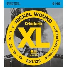 D'ADDARIO EXL125 - струны для электрогитары
