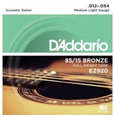 D'ADDARIO EZ920 - струны для акустической гитары