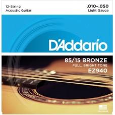 D'ADDARIO EZ940 - струны для 12-струнной гитары