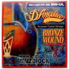 D`ANGELICO DA-BW-UL - струны для акустической гитары