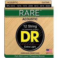 DR RPL-10/12 - струны для 12-струнной гитары