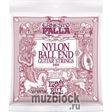 ERNIE BALL 2409 - нейлоновые струны для классической гитары, среднее нятяжение, Ball-End, Ernesto Pa