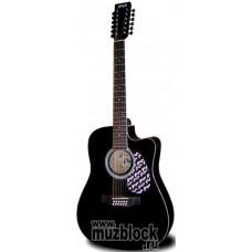 FLIGHT W 12701/12CEQ BK - 12 струнная гитара