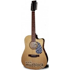 FLIGHT W 12701/12CEQ NA - 12 струнная гитара