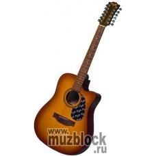 FLIGHT W 12701/12CEQ VS - 12 струнная гитара