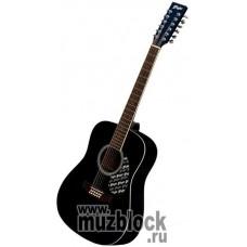 FLIGHT W 12701/12EQ BK - 12 струнная гитара