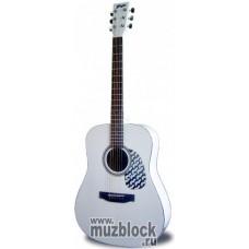 FLIGHT W 12701EQ WH (WT) - электроакустическая гитара