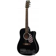 FLIGHT W 12701СEQ BK - электроакустическая гитара